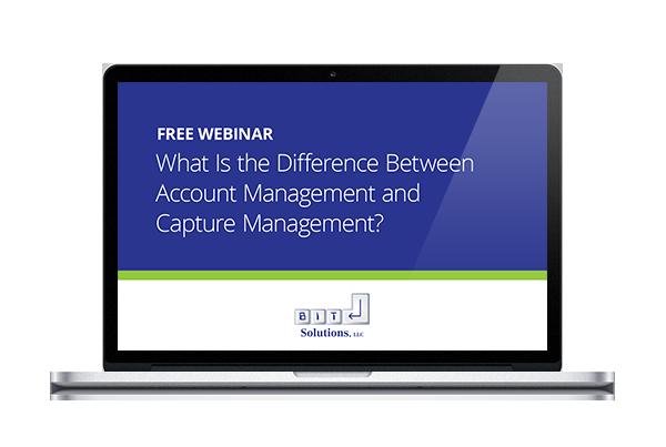 Account Versus Capture Management Webinar